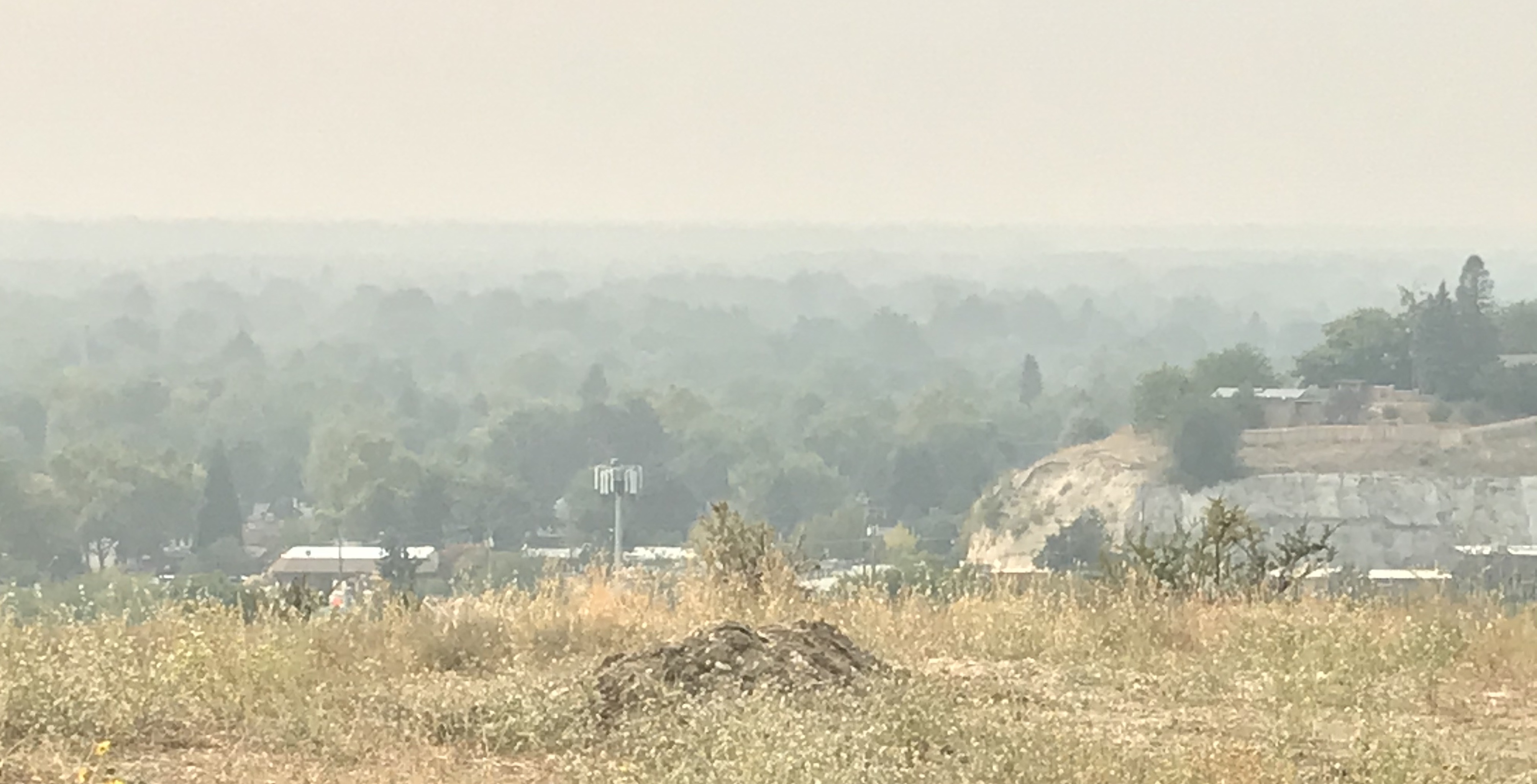 Poor air quality in Boise, ID on September 16, 2020. Staff photo.