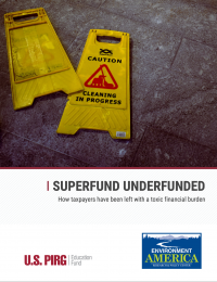 Superfund Underfunded report cover